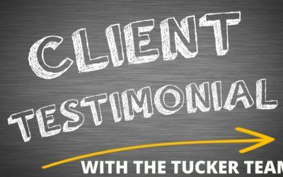 Tucker Team Testimonials: Team Client Sarah T.