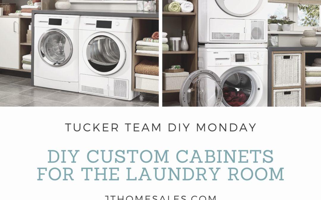DIY Monday: Custom Laundry Room Cabinets